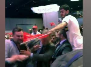 Erdogan's supporters again use force in US territory