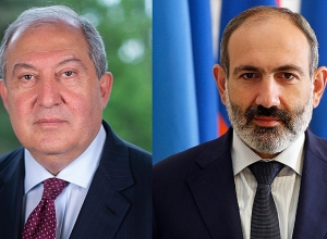 Nikol Pashinyan, Armen Sarkissian meet