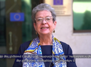 The video message of the EU Ambassador Andrea Wiktorin